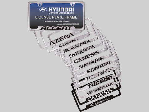 Hyundai License Plate Frame