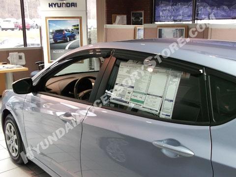 2012 Hyundai Accent Vent Visors