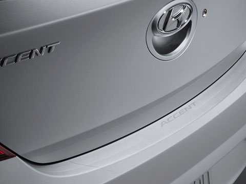 Hyundai Accent Rear Bumper Applique