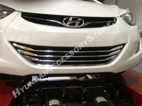 2011 14 Hyundai Elantra Chrome Lower Grille Overlay
