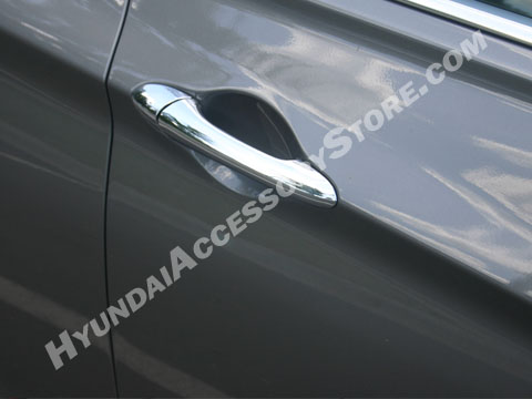 2011 13 Hyundai Sonata Chrome Door Handle Overlay Set