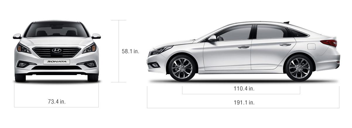 2008 Hyundai Sonata Dimensions