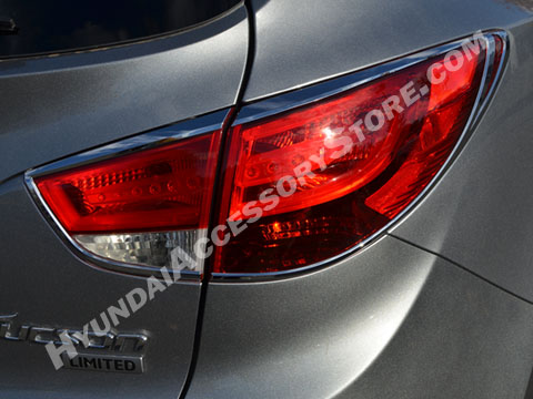 Hyundai Tucson Chrome Tail Lamp Bezels